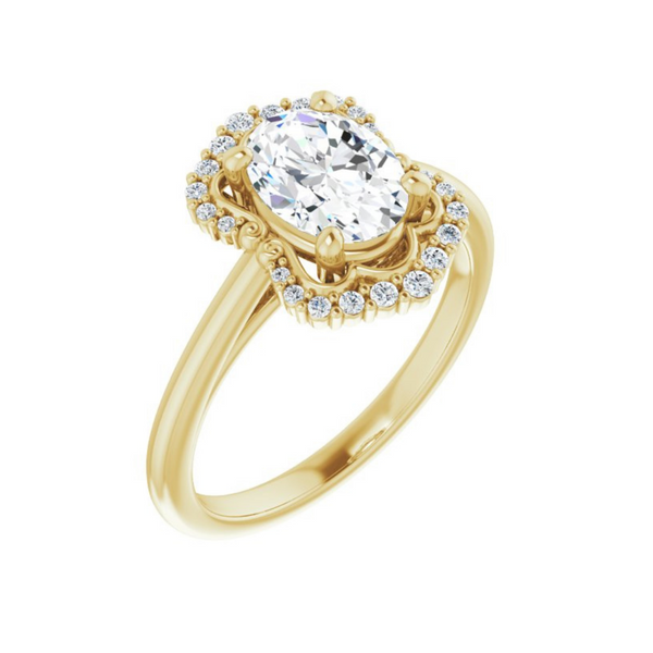 Oval Accented Engagement Ring Mounting Vandenbergs Fine Jewellery Winnipeg, MB