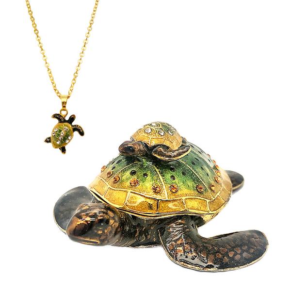 Mother Turtle With Baby Trinket Box Vandenbergs Fine Jewellery Winnipeg, MB