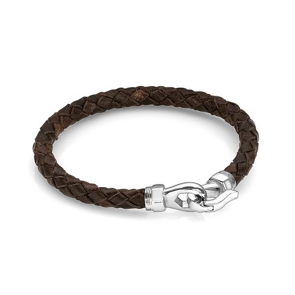 Brown Italian Leather Bracelet Vandenbergs Fine Jewellery Winnipeg, MB