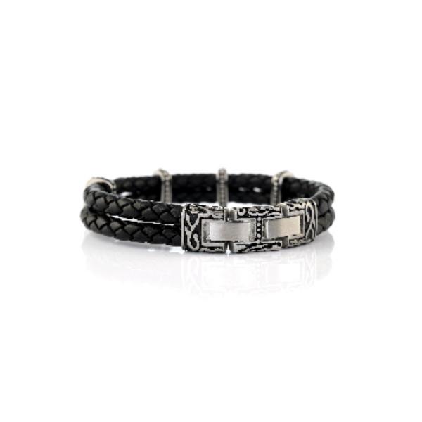 Black Italian Leather Bracelets Image 2 Vandenbergs Fine Jewellery Winnipeg, MB