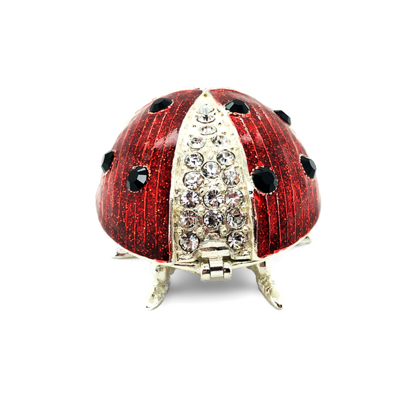Lucky Ladybug Trinket Box Image 2 Vandenbergs Fine Jewellery Winnipeg, MB