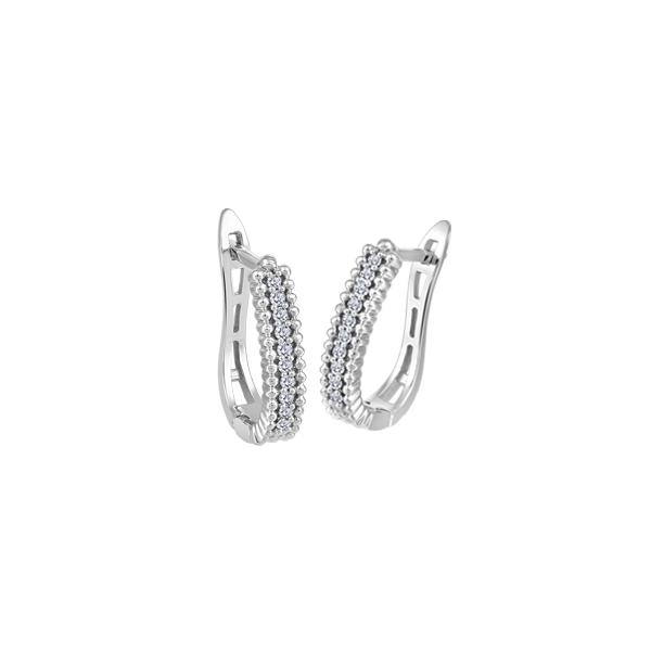 10K White Gold Diamond Earrings Vandenbergs Fine Jewellery Winnipeg, MB