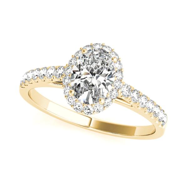 14K Yellow Oval Halo Lab Grown Diamond Engagement Ring Vandenbergs Fine Jewellery Winnipeg, MB