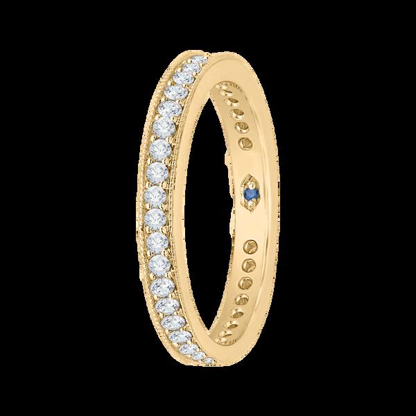 14K Yellow Gold Round Diamond Eternity Wedding Band Vandenbergs Fine Jewellery Winnipeg, MB