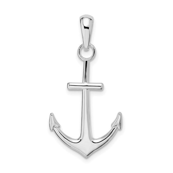 Sterling Silver Polished Anchor Pendant Vandenbergs Fine Jewellery Winnipeg, MB