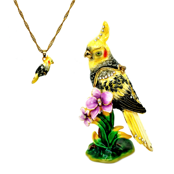 Tropicana Cockatiel Trinket Box Vandenbergs Fine Jewellery Winnipeg, MB