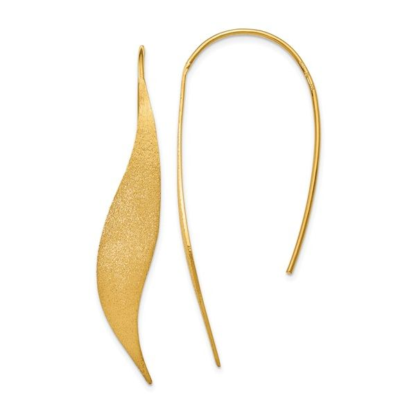 Sterling Silver Gold-plated Polished & Brushed Earrings Vandenbergs Fine Jewellery Winnipeg, MB