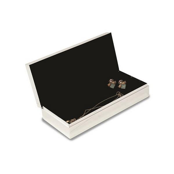 Nickel Plated Rectangular Hinged Box with Velvet Lining Image 2 Vandenbergs Fine Jewellery Winnipeg, MB
