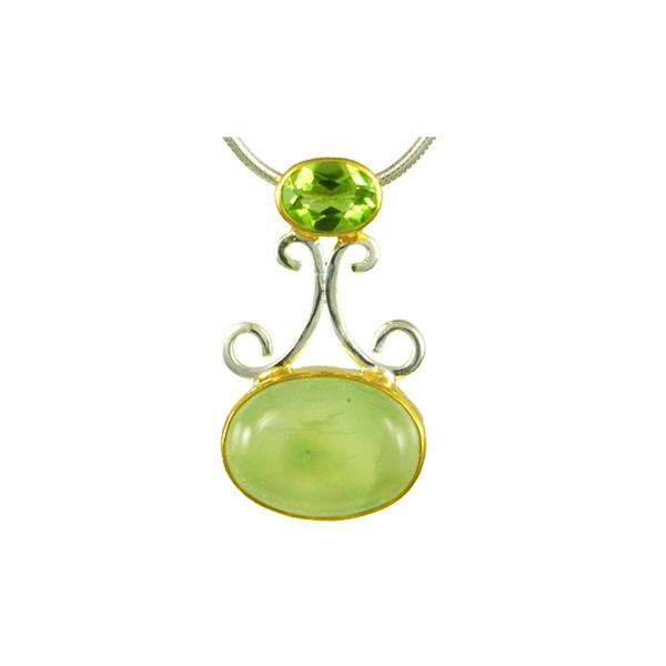 Prehnite & Peridot Pendant Vandenbergs Fine Jewellery Winnipeg, MB