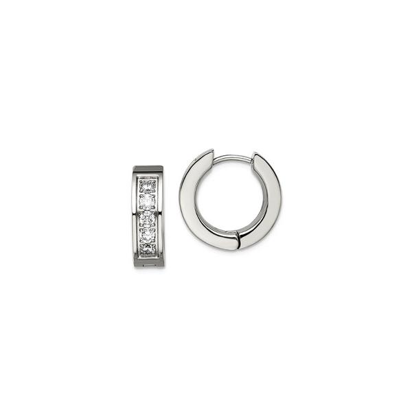 Titanium Cubic Zirconia 5mm Hoops Vandenbergs Fine Jewellery Winnipeg, MB