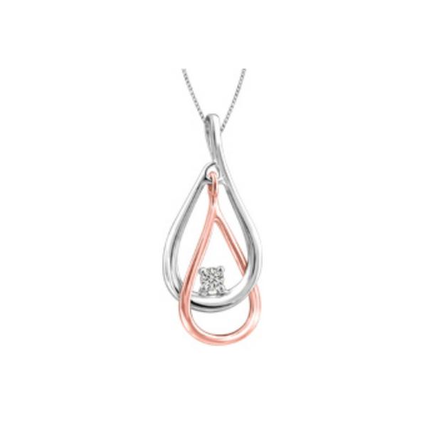 10K Rose & White Gold Diamond Pendant Vandenbergs Fine Jewellery Winnipeg, MB