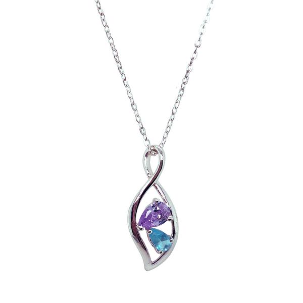 Multi-Color Cubic Zirconia Necklace Vandenbergs Fine Jewellery Winnipeg, MB