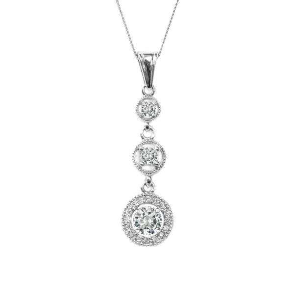estate diamond 3 tier necklace