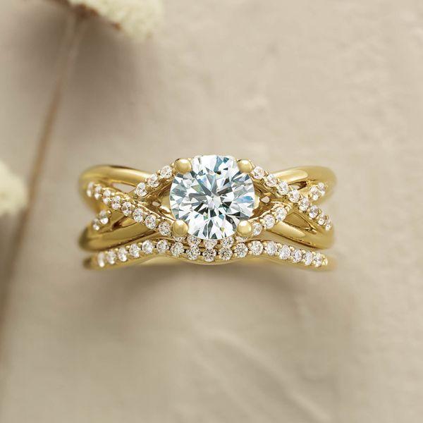 14K Yellow 6.5 mm Round Engagement Ring Mounting Image 2 Vandenbergs Fine Jewellery Winnipeg, MB