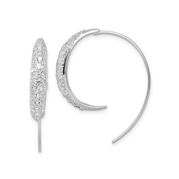Sterling Silver CZ Threader Earrings Image 2 Vandenbergs Fine Jewellery Winnipeg, MB