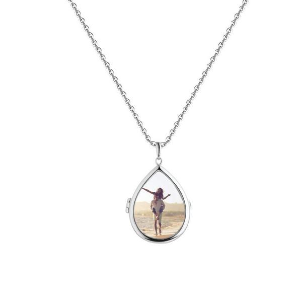 """Sterling Silver """"Sky"""" Glass Locket Vandenbergs Fine Jewellery Winnipeg, MB"""