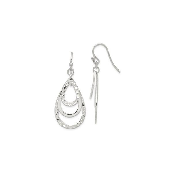 Sterling Silver Diamond Cut Dangle Earrings Vandenbergs Fine Jewellery Winnipeg, MB