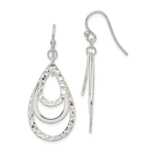 Sterling Silver Diamond Cut Dangle Earrings Image 2 Vandenbergs Fine Jewellery Winnipeg, MB