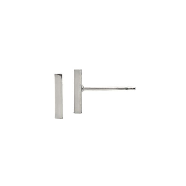 Stainless Steel Polished Bar Post Earrings Vandenbergs Fine Jewellery Winnipeg, MB