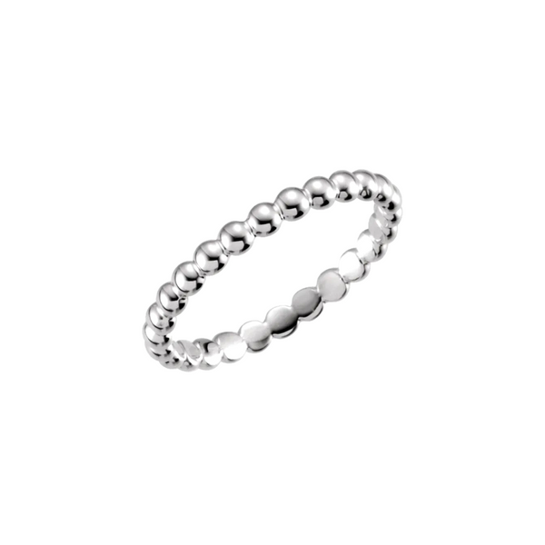 14K White Gold Beaded Stackable Ring Vandenbergs Fine Jewellery Winnipeg, MB