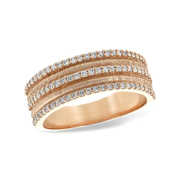 14K Rose Gold Diamond Wedding Ring Vandenbergs Fine Jewellery Winnipeg, MB