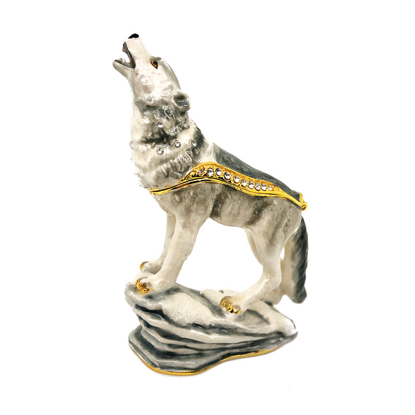 Howling Wolf Trinket box Image 2 Vandenbergs Fine Jewellery Winnipeg, MB