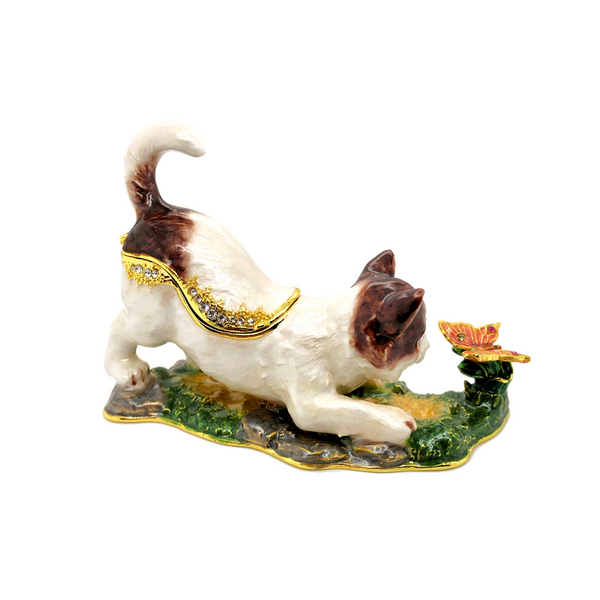 Playful Cat Trinket Box Image 2 Vandenbergs Fine Jewellery Winnipeg, MB