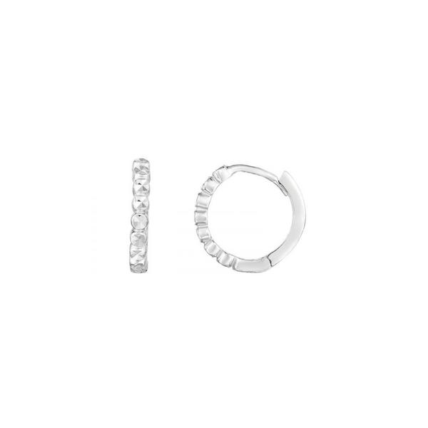 14K White Gold Mini Huggie Earrings Vandenbergs Fine Jewellery Winnipeg, MB