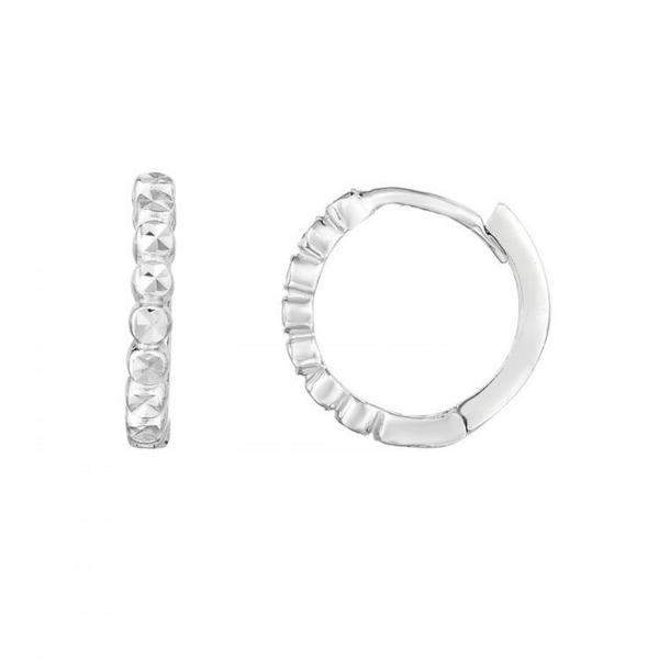 14K White Gold Mini Huggie Earrings Image 2 Vandenbergs Fine Jewellery Winnipeg, MB