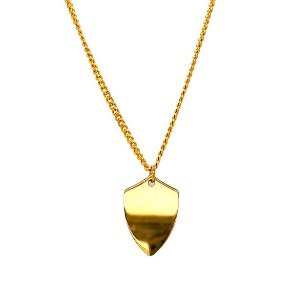 Engravable Shield Necklace Image 2 Vandenbergs Fine Jewellery Winnipeg, MB