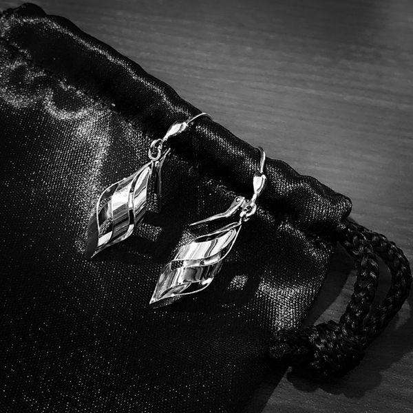 Sterling Silver Geo Swirl Earrings Image 2 Vandenbergs Fine Jewellery Winnipeg, MB