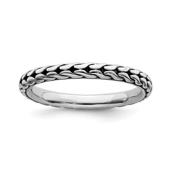 Sterling Silver Stackable Antiqued Ring Image 2 Vandenbergs Fine Jewellery Winnipeg, MB