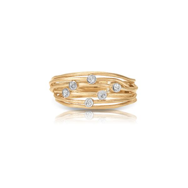 14K Yellow Gold Diamond Bubble Ring Vandenbergs Fine Jewellery Winnipeg, MB