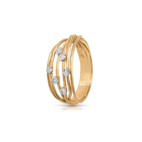 14K Yellow Gold Diamond Bubble Ring Image 2 Vandenbergs Fine Jewellery Winnipeg, MB