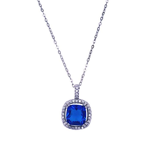 Royal Blue & White Cubic Zirconia Necklace Vandenbergs Fine Jewellery Winnipeg, MB
