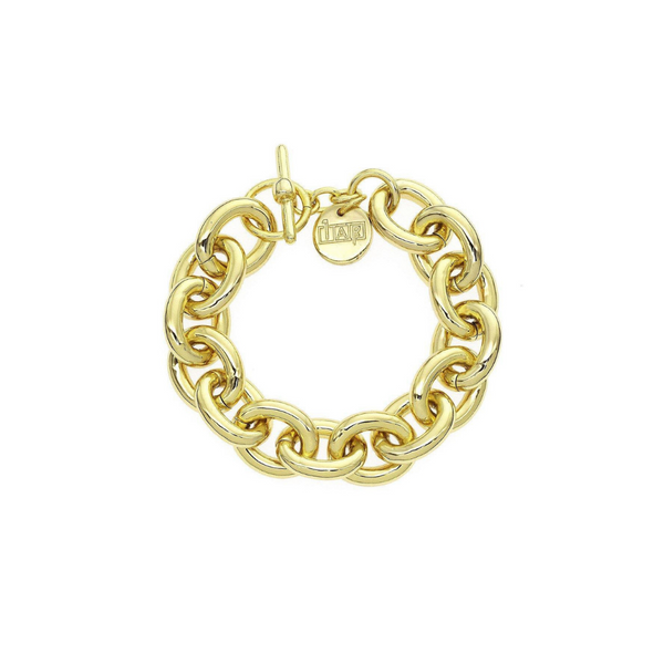 18K Gold Plated Chunky Italian Chain Bracelet Vandenbergs Fine Jewellery Winnipeg, MB