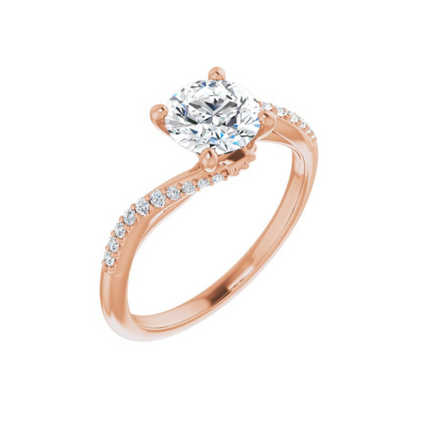 Curved Engagement Ring Mounting Vandenbergs Fine Jewellery Winnipeg, MB