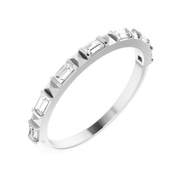 14K White Baguette Diamond Anniversary Band Vandenbergs Fine Jewellery Winnipeg, MB
