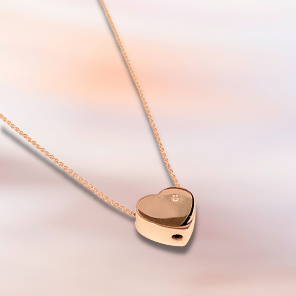 14K Rose Gold .01ct Diamond Heart Necklace Image 2 Vandenbergs Fine Jewellery Winnipeg, MB