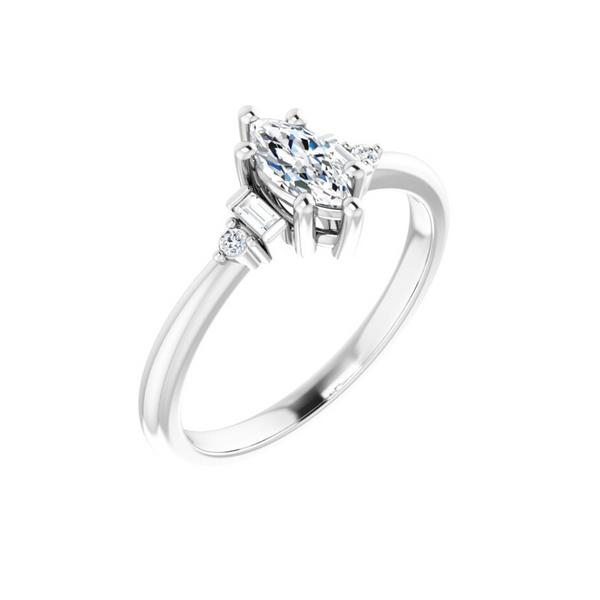 Marquise Engagement Ring Mounting Vandenbergs Fine Jewellery Winnipeg, MB