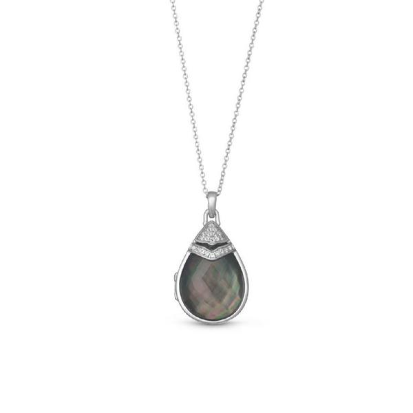 "Black Mother of Pearl ""Ella"" Locket Vandenbergs Fine Jewellery Winnipeg, MB"