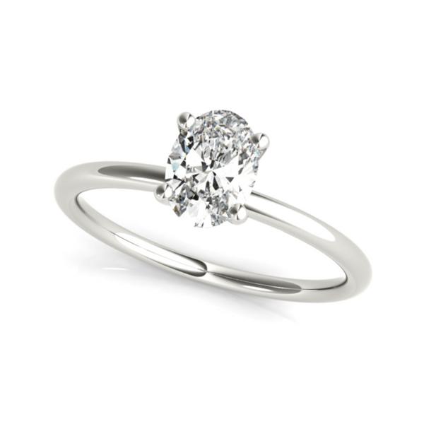 14K White Lab Grown Diamond Solitaire Engagement Ring Vandenbergs Fine Jewellery Winnipeg, MB