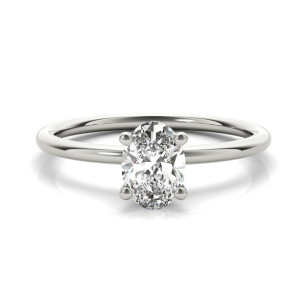 14K White Lab Grown Diamond Solitaire Engagement Ring Image 2 Vandenbergs Fine Jewellery Winnipeg, MB