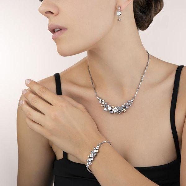 Silver-Rose Cube Cluster Necklace Image 2 Vandenbergs Fine Jewellery Winnipeg, MB