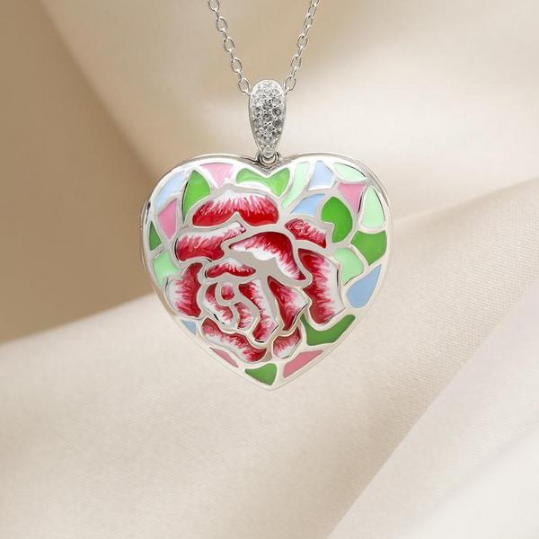 "White Topaz Floral ""Sonia"" Locket Image 2 Vandenbergs Fine Jewellery Winnipeg, MB"