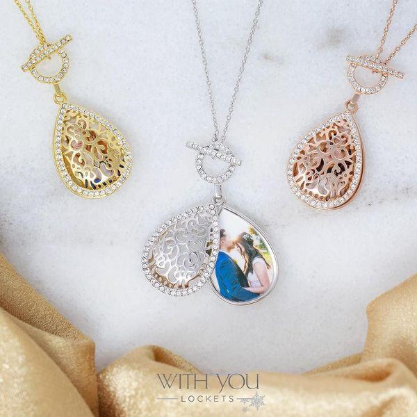 "Sterling Silver White Sapphire ""Bella"" Locket Image 2 Vandenbergs Fine Jewellery Winnipeg, MB"