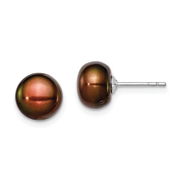 Cultured Button Pearl Stud Earrings Vandenbergs Fine Jewellery Winnipeg, MB