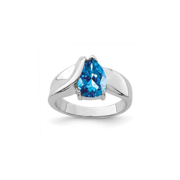 Sterling Silver Blue Cubic Zirconia Ring Vandenbergs Fine Jewellery Winnipeg, MB