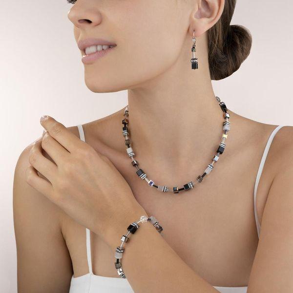 Black & White Haematite GeoCube Necklace Image 2 Vandenbergs Fine Jewellery Winnipeg, MB