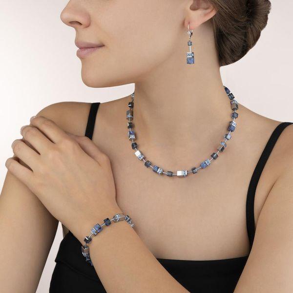 Sodalite & Haematite Blue Cube Necklace Image 2 Vandenbergs Fine Jewellery Winnipeg, MB